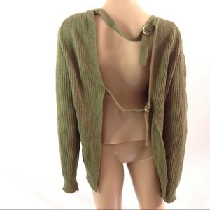 Nasty Gal Women Sweater Open Back Size S Brown